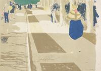 エドゥアール・ヴュイヤール《街路(風景と室内)》1899年 多色刷りリトグラフ  アムステルダム、ファン・ゴッホ美術館