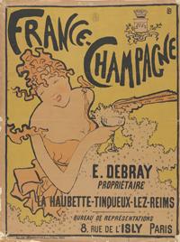 ピエール・ボナール《「フランス=シャンパン」のためのポスター》1891年 多色刷りリトグラフ  アムステルダム、ファン・ゴッホ美術館