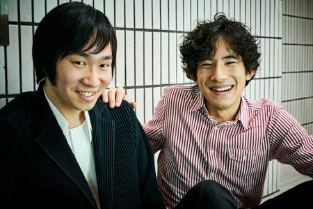 左から、阪田知樹、上野耕平  撮影:吉田タカユキ