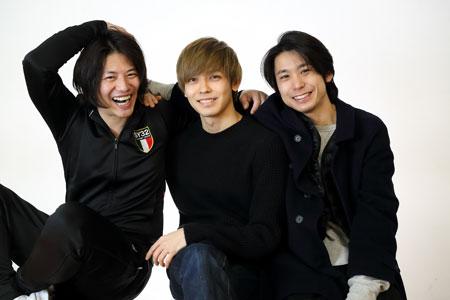 左から、青柳尊哉、猪塚健太、内田健司  撮影:交泰
