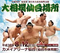 東日本大震災復興支援平成30年夏巡業大相撲仙台場所