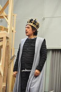 『ヘンリー五世』稽古場より