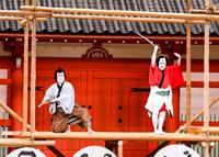 『野晒悟助』右から野晒悟助=尾上菊五郎、提婆仁三郎=市川左團次 (C)松竹