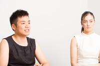 (画像左から)住吉佑太、山脇千栄 撮影:イシイノブミ