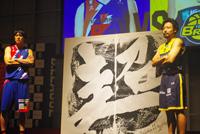 (写真左より)山下泰弘(ライジングゼフォー福岡)、田臥勇太(栃木ブレックス)