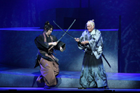 日本テレビ開局65年記念舞台 「魔界転生」囲み取材、ゲネプロより