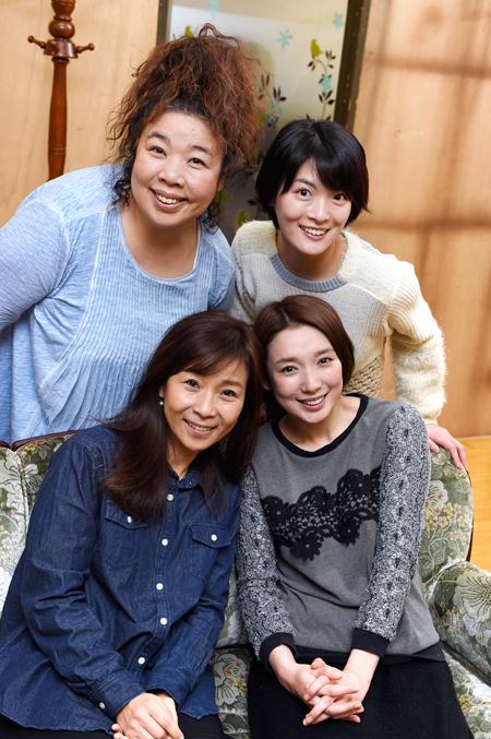 (左上から)中島唱子、原田樹里 (左下から)みょんふぁ、沙央くらま 撮影:桑原克典
