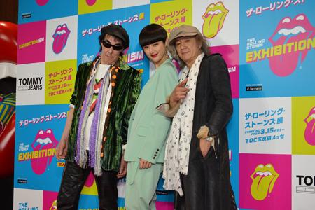 レッドカーペットに登場した、アンバサダーの鮎川誠、シシド・カフカ、Char