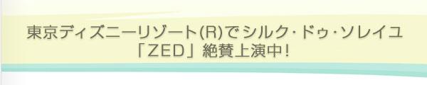 東京ディズニーリゾート(R)でシルク・ドゥ・ソレイユ「ZED」 絶賛上演中!