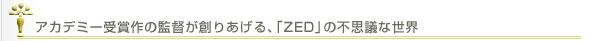 アカデミー受賞作の監督が創りあげる、「ZED」の不思議な世界