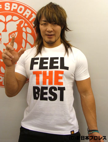 棚橋弘至「FEEL THE BEST」Tシャツ