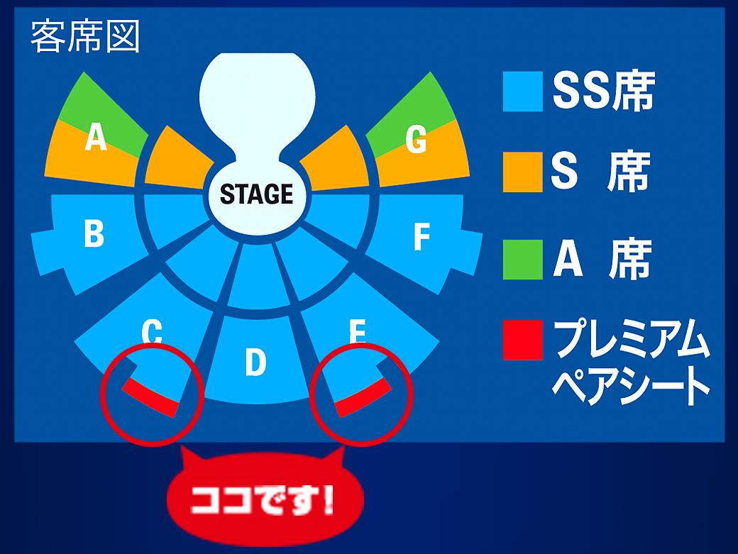 「プレミアムペアシート」客席図