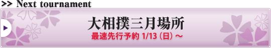 大相撲三月場所 最速先行予約1/13(日)~