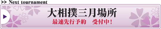 大相撲三月場所 最速先行予約 受付中!