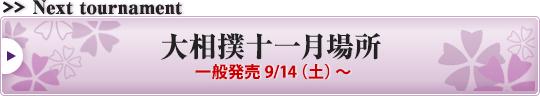 大相撲十一月場所 一般発売9/14(土)~